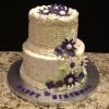 2 Tier 70th Birthday Cake Butter Almond Pound Cake Vanilla Butter Cream Filling/Frosting
