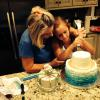 Mimi and Charly (my grand daughter) making her birthday cake together.