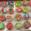 Inspired by Lilly Pulitzer Cupcakes