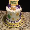 "6"" Butter Almond Pound Cake Pineapple Filling Vanilla ButterCream Frosting"