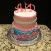 2 Tier Vanilla Pound Cake Raspberry Mousse Filling Vanilla ButterCream Frosting