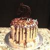 Sweet 16 Reese's Peanut Butter Cake  Chocolate Ganache/Reese's Candy and Chocolate Candy Melt Horse