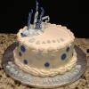 "Happy Birthday 9"" Chocolate Chip Fudge Cake Oreo Cookies and Cream Filling Vanilla ButterCream Frosting"