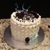 "6"" Chocolate Chip Fudge Cake Oreo Cookies and Cream Filling Vanilla ButterCream Frosting"