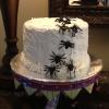 Butter Almond Pound Cake Vanilla ButterCream Frosting Spiders and Webs!