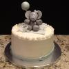 "9"" Butter Almond Pound Cake Vanilla ButterCream Filling/Frosting Decoration:  Elephant/Balloon"