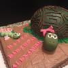 Turtle Cake Vanilla Pound With Chocolate ButterCream Filling And Frosting