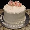 Happy Anniversary White Chocolate Cake With Raspberry Filling