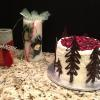 White Christmas Cake With Cranberry/Cherry Filling  Orange ButterCream Frosting
