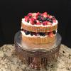 Naked Vanilla Pound Cake Whipped Cream with Fresh Fruit and Vanilla Drizzle