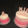 Vanilla Cake with Strawberry Mousse Filling and Vanilla ButterCream Frosting Smash Cake to Match