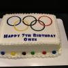 Olympic Rings/Happy Birthday