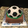 Soccer Ball Chocolate Fudge Cake base and Almond Pound Cake Soccer Ball