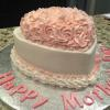 Valentine's Cake for Mothers Day!