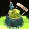 Graduation! Monster University! 2 Tier Vanilla Pound Cake w/Chocolate Mousse and Lemon Cake with Raspberry Mousse