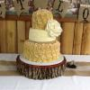 Rustic 3 Tier Ivory Wedding Cake Butter Almond Pound Cake