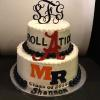 "Roll Tide 2 Tier (Serves 60) 12"" Vanilla Pound Cake 8"" Marble Pound Cake"