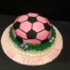 Pink Soccer Ball Cake for my Charly Girl!