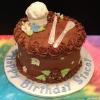 50th Birthday Chocolate Fudge Cake with Chocolate Fudge Filling Chocolate ButterCream Frosting Chef Hat