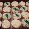 Cupcakes to match! Pea Pod decorations!