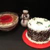 Corporate Cakes:  Red Velvet Cake with Cream Cheese Frosting and Filling.  Strawberry Punch Bowl Cake!