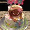 "My 3 year old client requested a ""Hanging Monkey Cake"".  A Hanging Monkey Cake  it is !     Too Cute !!"