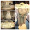 My client sent me a photo of her special event with the 3-tiered cake as the centerpiece.