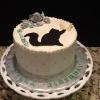This beaufiful birthday cake is a vanilla pound cake and vanilla filling and frosting.