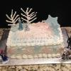 "This is a birthday cake for a 3 year old little girl.  It is a stawberry cake inspired by Disney's  ""Frozen""."